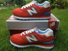 finest selection ae7c6 a0244 Joes New Balance ML574YRD Lovers Red Blue White Yacht Club Mens Shoes New  Balance 574 Pink