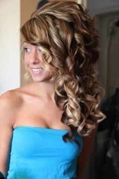 prom curls color caramel