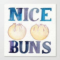NICE BUNS // Chromogenic Photographic Print by conniecann on Etsy