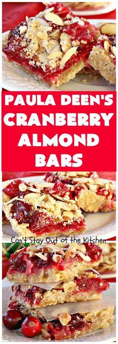 Paula Deen's Cranberry Almond Bars