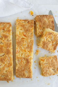 An easy slice recipe with soaked, dried apricots and four other ingredients. So easy to make and very yummy. Apricot Recipes, Sweet Recipes, Raspberry Recipes, Yummy Recipes, Baking Recipes, Cookie Recipes, Dessert Recipes, Apple Desserts, Apricot Slice