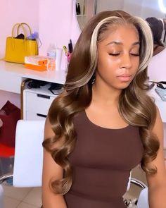 Baddie Hairstyles, Weave Hairstyles, Pretty Hairstyles, Short Sew In Hairstyles, Girls Natural Hairstyles, Black Women Hairstyles, Curly Hair Styles, Natural Hair Styles, Dyed Natural Hair