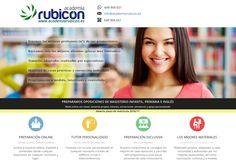 Cartel de Academia Rubicón. #AcademiaRubicon #educacion #oposicionesmagisterio #oposiciones #maestros