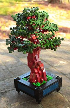 ~ Lego MOCs Fantasy ~ Bonsai & Slow and steady wins the race& & Brother Steven Lego Minecraft, Lego Moc, Lego Duplo, Minecraft Buildings, Lego Design, Lego Friends, Lego Tree, Amazing Lego Creations, Bonsai