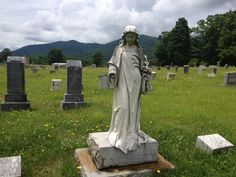 Statue in a cemetery near Black mountain NC 6/5/13