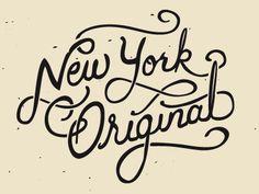 new york original hand lettering