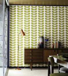 Interior Design Classic, Retro, 70s, Styling | Orla Keily, Classic Stem Wallpaper by Harlequin | Jane Clayton