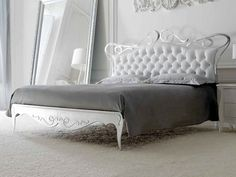 Double bed with upholstered headboard ANTEA Antea Collection by CorteZari