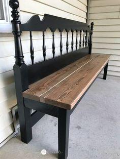Kingsize Headboard Bench #ChairRepurposed