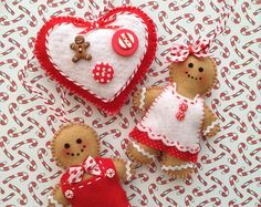 Christmas Felt Ornaments / Xmas Ornaments / di CraftsbyBeba