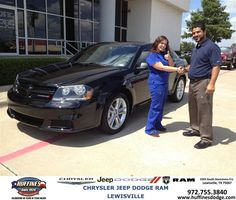 #HappyAnniversary to Tifani Hicks on your 2013 #Dodge #Avenger from Hamed Awadi at Huffines Chrysler Jeep Dodge Ram Lewisville!