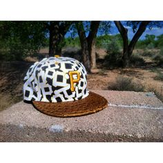 Swanky Kings Pittsburgh Pirates hat with vegan Ostrich.