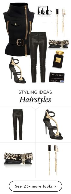 """""""Black and Gold"""" by im-karla-with-a-k on Polyvore featuring Giorgio Armani, Emitations, Isabel Marant, Jimmy Choo and Giuseppe Zanotti"""
