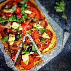 Vegan & gluten-free red lentil pizza base