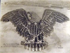 Fourth of July-Vintage 1918 photo-The Human American Eagle