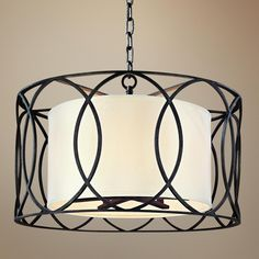 "Sausalito 25"" Wide Deep Bronze Pendant Light - from Troy lighting"