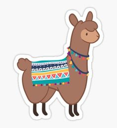 Brown Llama Sticker