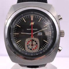 ENICAR vintage MANTAGRAPH 30 chronograph 219-02-01 Boutique Vintage, Vintage Rolex, Omega Watch, Chronograph, Watches For Men, Racing, Accessories, Jewelry, Wristwatches