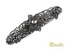 Französische Haarspange Silber Antike Metall Haarspange   Etsy Boho Vintage, Brooch, Etsy, Hair, France, Jewellery, Fashion, Hair Pins, Drum