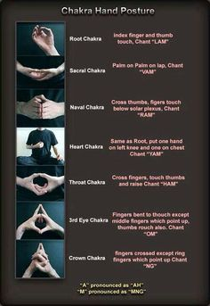 Try it next time you meditate/ do mindfulness practice ~Chakra Hand Posture. from Emotional Endurance Athlete