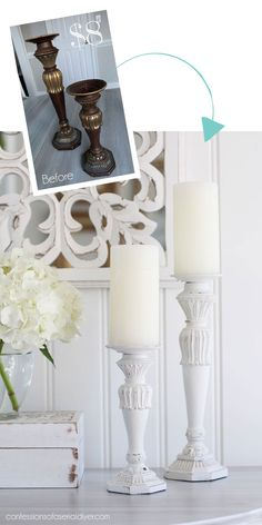 Painting the Smalls Lamp Makeover, Furniture Makeover, Diy Furniture, Painted Furniture, Wood Router, Wood Lathe, Cnc Router, Candle Stand, Candle Holders