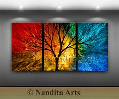 Landscape Painting 72 Abstract paintings on canvas Modern Wall Art by Nandita Multicolor Luxury Style Home Decor Red & Blue Tree Painting Canvas Painting Landscape, Landscape Art, Acrylic Painting Canvas, Canvas Art, Abstract Paintings, Blue Canvas, Abstract Canvas, Contemporary Art Gallery, Modern Wall Art