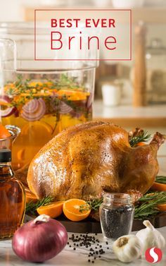 Thanksgiving is upon us! For a juicy, flavorful turkey, follow this simple and easy recipe for the best brine ever. Thanksgiving Feast, Thanksgiving Recipes, Fall Recipes, Holiday Recipes, Great Recipes, Favorite Recipes, Thanksgiving Traditions, Dinner Recipes, Brine Recipe