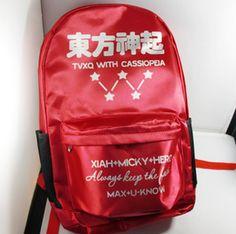 KPOP TVXQ JYJ fashion school backpack