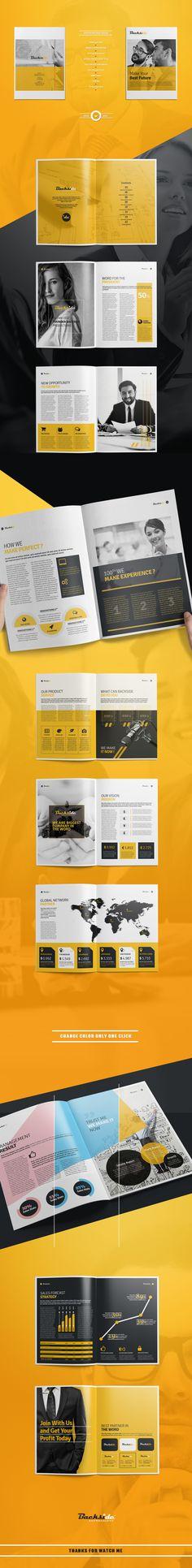 Brochure by AlfianBrand™ on Creative Market Corporate Brochure Design, Brochure Layout, Branding Design, Brochure Trifold, Company Brochure, Brochure Template, Editorial Design, Editorial Layout, Brochure Inspiration
