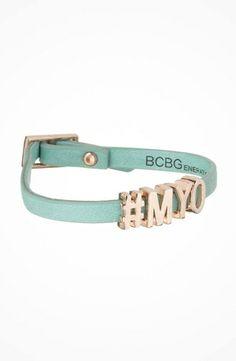 BCBGeneration Build Your Own Bracelet #accessories  #jewelry  #bracelets  https://www.heeyy.com/bcbgeneration-build-your-own-bracelet-rose-gold-letters-seafoam-strap/