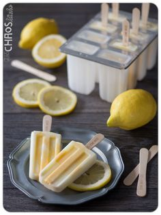 Limoncello Lemon Curd Eis am Stiel Popsicles Lemoncurd