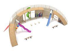 Playground Design, Backyard Playground, Children Playground, Parque Linear, Architecture Concept Drawings, School Architecture, Kids Cafe, Kindergarten Design, Kids Play Area