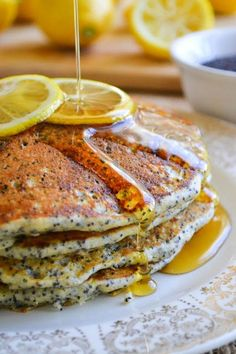 Lemon Poppyseed Pancakes by theviewfromgreatisland  #Pancakes #Lemon #Poppyseed