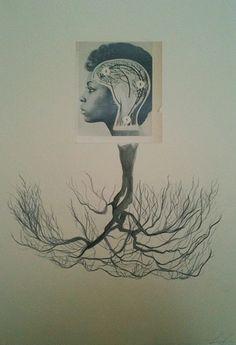 Lorna Simpson, Ebony (Branches), 2010