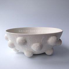 Medium Nodule Bowl with Textured Surface. #lesleydoeceramics #porcelain #bowl #nodule #texture #outofmycomfortzone #doeandday
