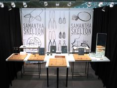 Show booth jewelry display, Samantha Skelton Jewelry Design at ACC Baltimore