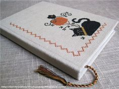 """Embroidery ... The holiday, which is always with me...: Блокнот """"The Black Cat"""""""