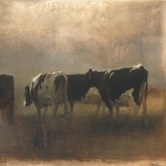 To view artist Michael Workman's paintings is to spend a quiet moment in a… Landscape Art, Landscape Paintings, Cow Painting, Cow Art, Le Far West, Wildlife Art, Art And Illustration, Western Art, Animal Paintings
