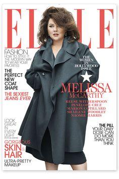ELLE Magazine Under Fire for Melissa McCarthy Cover | Fashion - Yahoo Shine     I think she looks beautiful! Whats all the hub bub