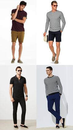 Summer shoes should be versatile, breathable and above all, stylish. These are the footwear styles every stylish man should have in his warm-weather rotation, from suede penny loafers and minimal white sneakers to espadrilles and boat shoes. Fashion Week Hommes, Mens Fashion Week, Mens Fashion Shoes, Men's Fashion, Summer Fashion For Teens, Summer Fashion Outfits, Espadrilles Outfit, Style Costume Homme, Mens Clothing Styles