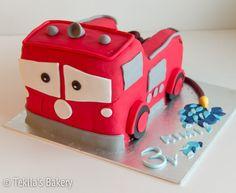 Disney Pixar car firecar fondant 3d cake. www.tekila.fi