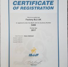 It's official Factory BJJ are now registered with the IBJJF. It's great to be able to represent the club on the biggest stages on the circuit! #BJJ #FactoryBJJ #BJJinManchester #IBJJF