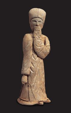 """Clay Figure of a Woman Hwangseong-dong, Gyeongju. Unified Silla, 7th C. / H. 16.5cm.   This clay figure in the shape of a woman was found in a stone-chamber tomb that was destroyed during the construction of an apartment building in Hwangseong-dong in 1987."" Source Gyeongju National Museum: http://gyeongju.museum.go.kr/html/en/master/master_01.html?GotoPage=4==10"