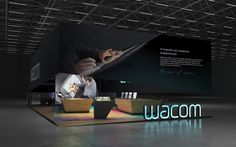 "Consulta este proyecto @Behance: ""* WACOM * Exhibition stand *"" https://www.behance.net/gallery/46039825/-WACOM-Exhibition-stand-"