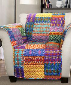 Another great find on #zulily! Multi-Patterned Armchair Protector #zulilyfinds