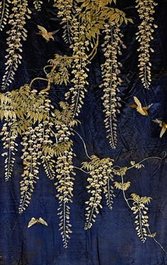 Detail ~ Japanese Embroidered Silk Panel.