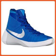 Nike Men s Hyperdunk 2015 Team Basketball Shoe Game Royal Metallic  Silver Blue Hero Size M US … 69013eba028