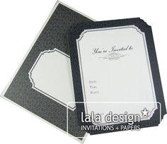 Black diamond invitation