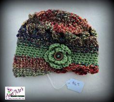 Infant 6-9 mo. Crochet Newsgirl Cap by AuntMosWarmFuzzies on Etsy, $16.00