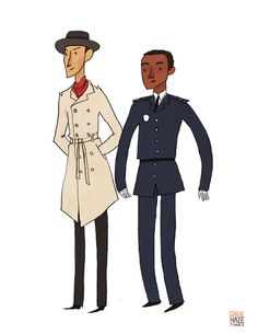 by gingerhaze.tumblr.com // Troy and Abed as Inspector Spacetime and Reggie. #community #inspectorspacetime